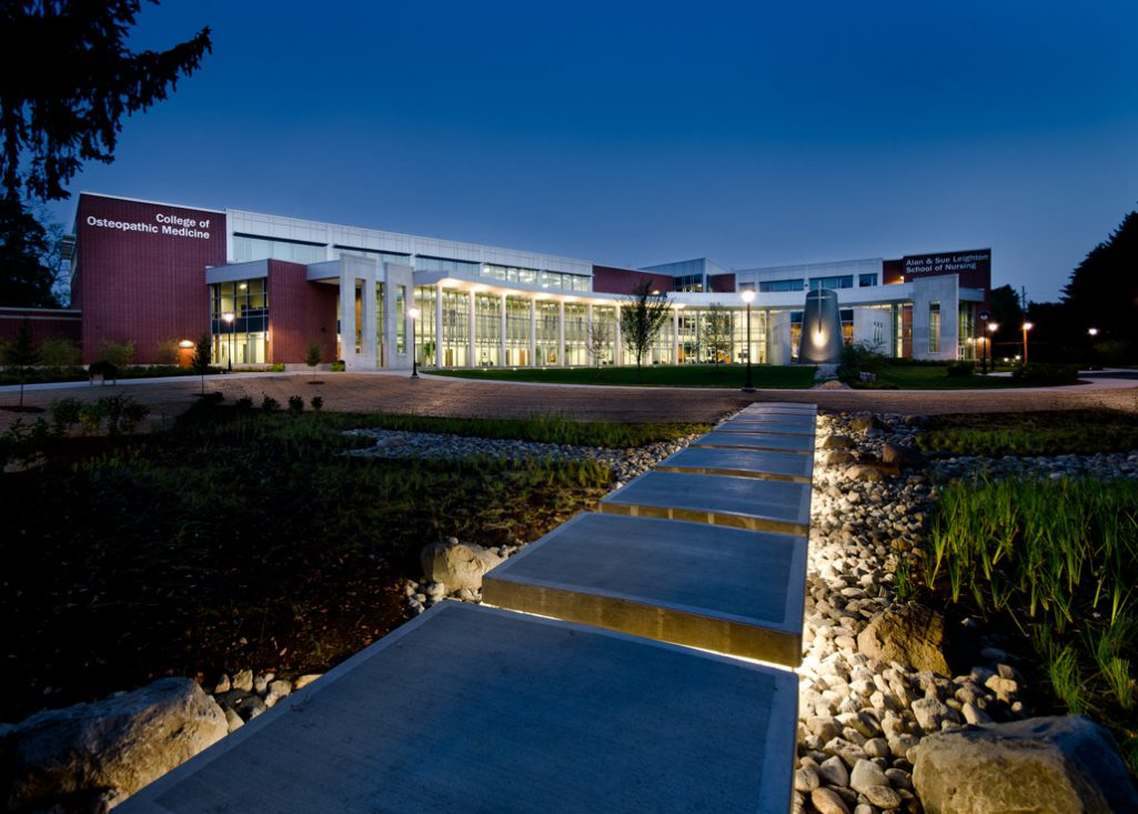 Marian University College of Osteopathic Medicine campus view